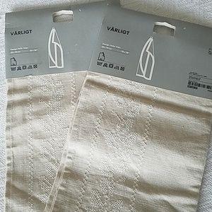 New IKEA Stitched Linen Tea Towels 2 Sets